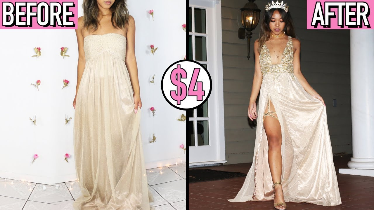 DIY OLD PROM DRESS FOR UNDER $25! | BROKE & BOUJEE | Nava ...