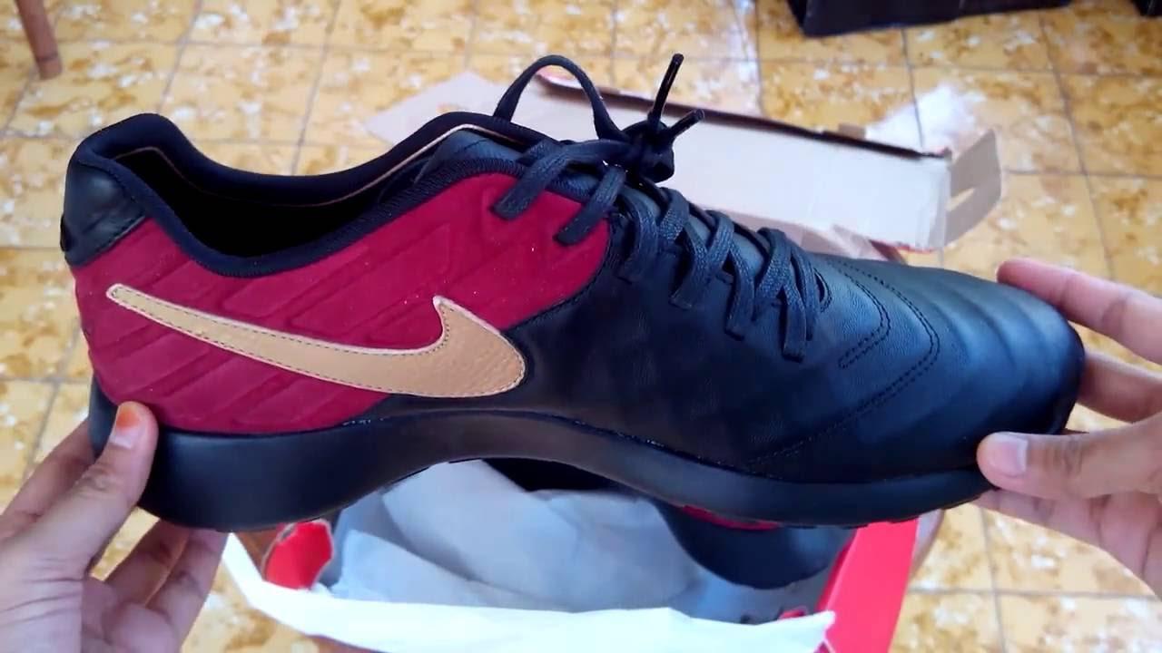 e41610f94143 Sepatu Sneakers Nike Roshe Tiempo VI FC Black 852613 001 Unboxing ...