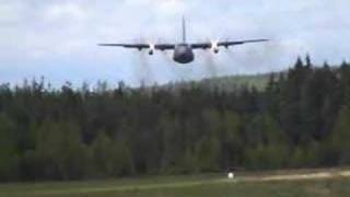 C-130 Hercules flying low!