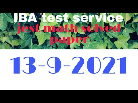JEST math part solved paper/ JEST test lBA test service || 13-september-2021