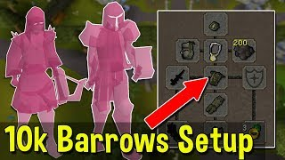 Budget Barrows Setup that Only Costs 10,000gp! Killing Bosses with the Cheapest Possible Gear [OSRS]