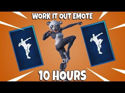 FORTNITE WORK IT OUT EMOTE (10 HOURS)