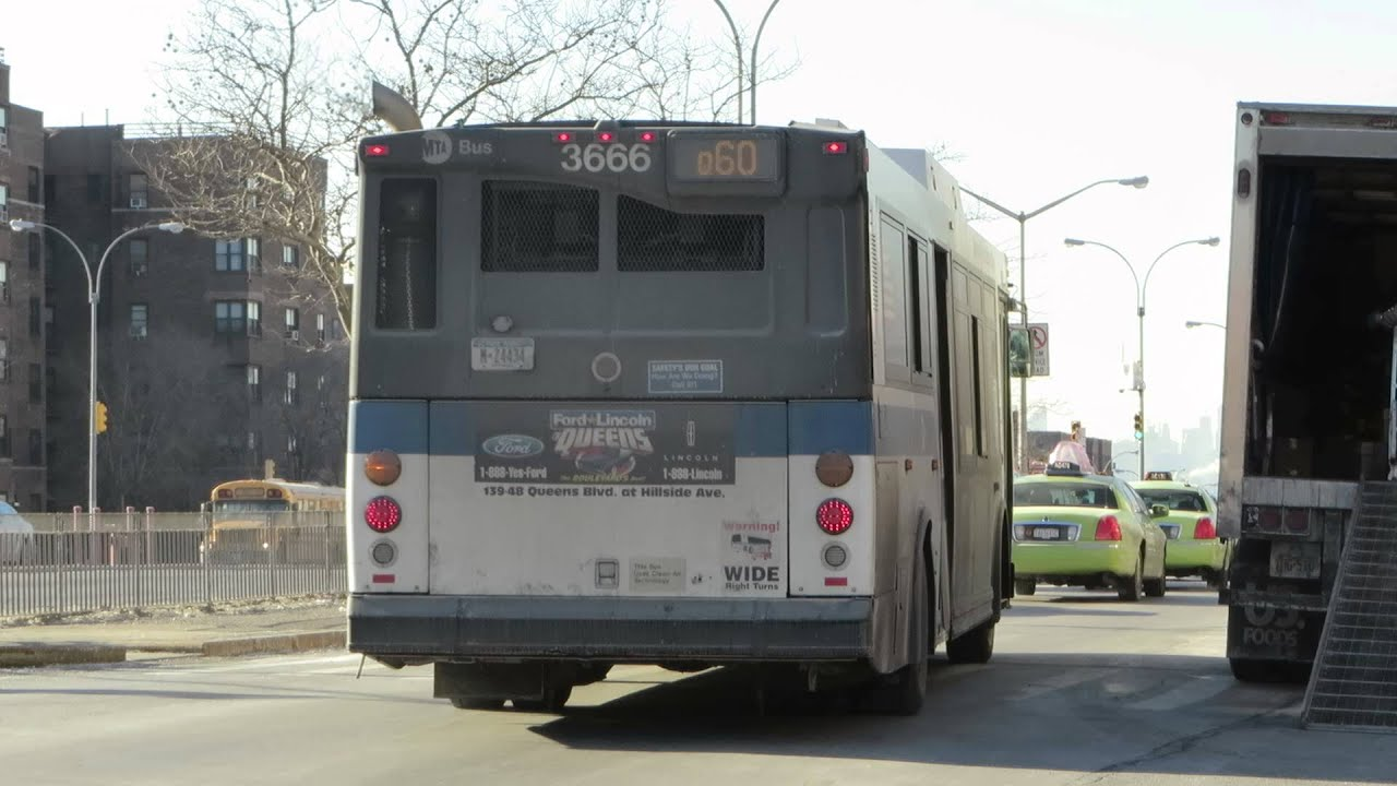 Mta Bus Special E Midtown Bound Orion Vii 3666 Black Rear Q60 At