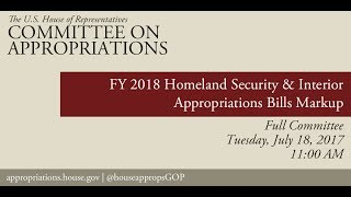 Full Committee Markup: FY18 Interior Appropriations Bill - Part 2 (EventID=106284)