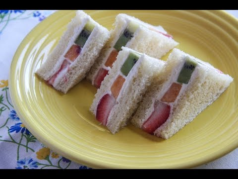 Fruit Sandwich Recipe - Japanese Cooking 101