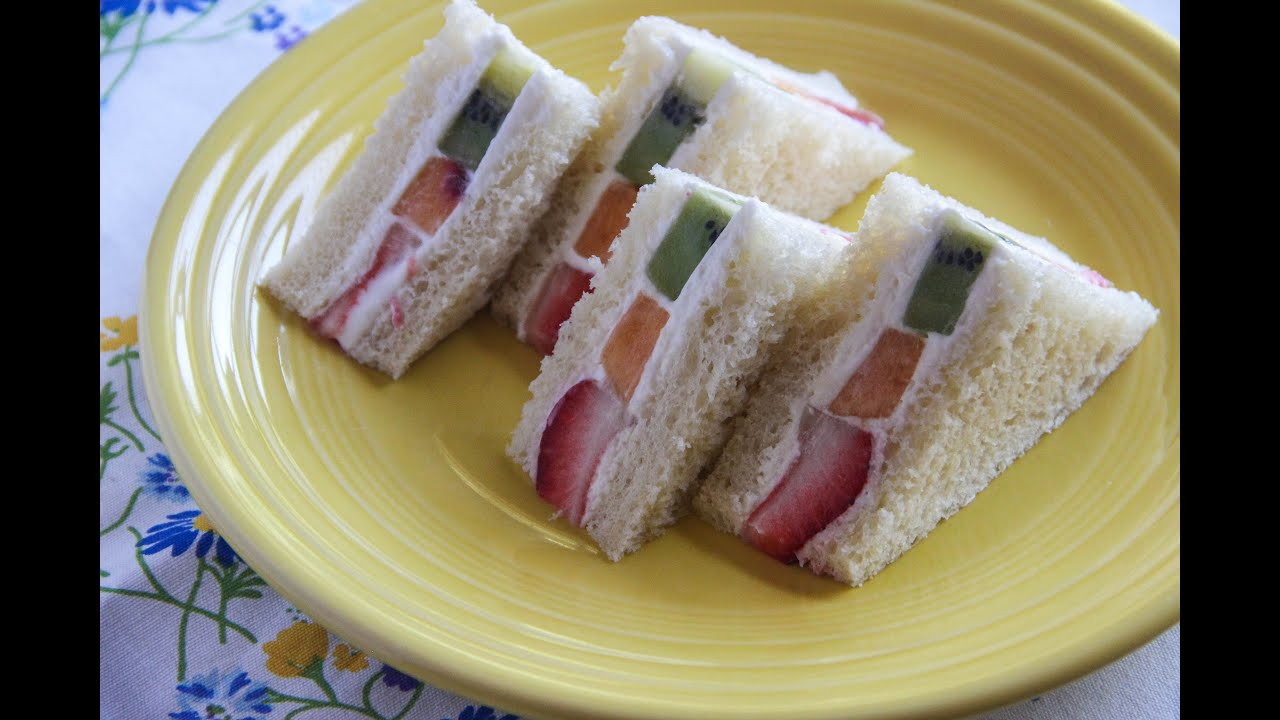 Fruit Sandwich Recipe Japanese Cooking 101 Youtube