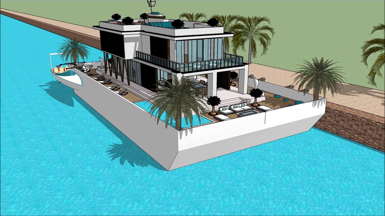 Luxury Yacht Legend SIMS HOUSEBOAT ISLAND PARADISE HOUSEBOAT DESIGNS IDEAS  SIMS 3 SIMS 4 BUILDING Ex
