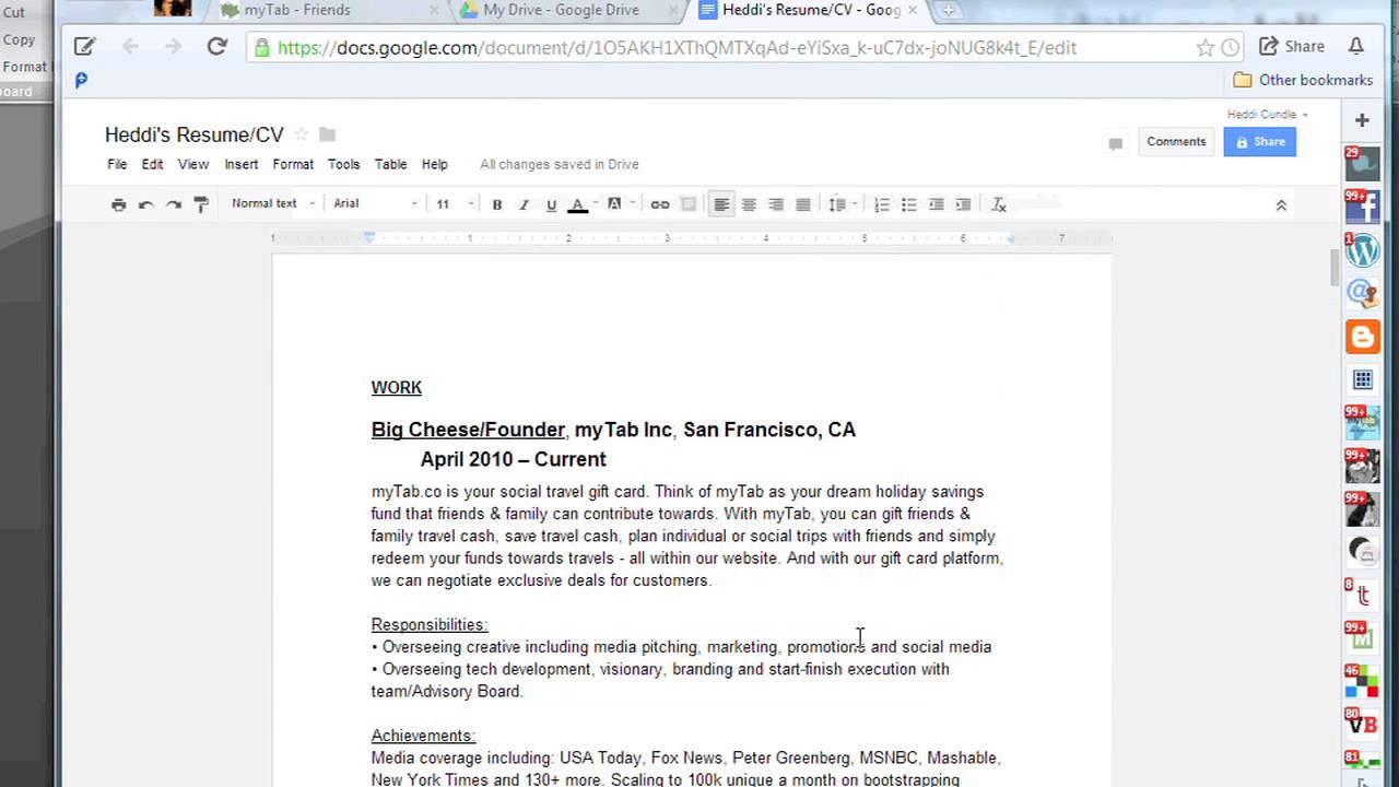 how to make a resume online with google docs the tech factor - Make Resume Online