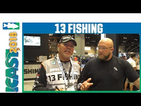 13 Fishing Creed Chrome Spinning Reel With Dave LeFebre | ICast 2018