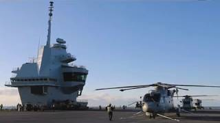 First Naval Air Squadron embarks in the Royal Navys new Aircraft Carrier HMS Queen Elizabeth