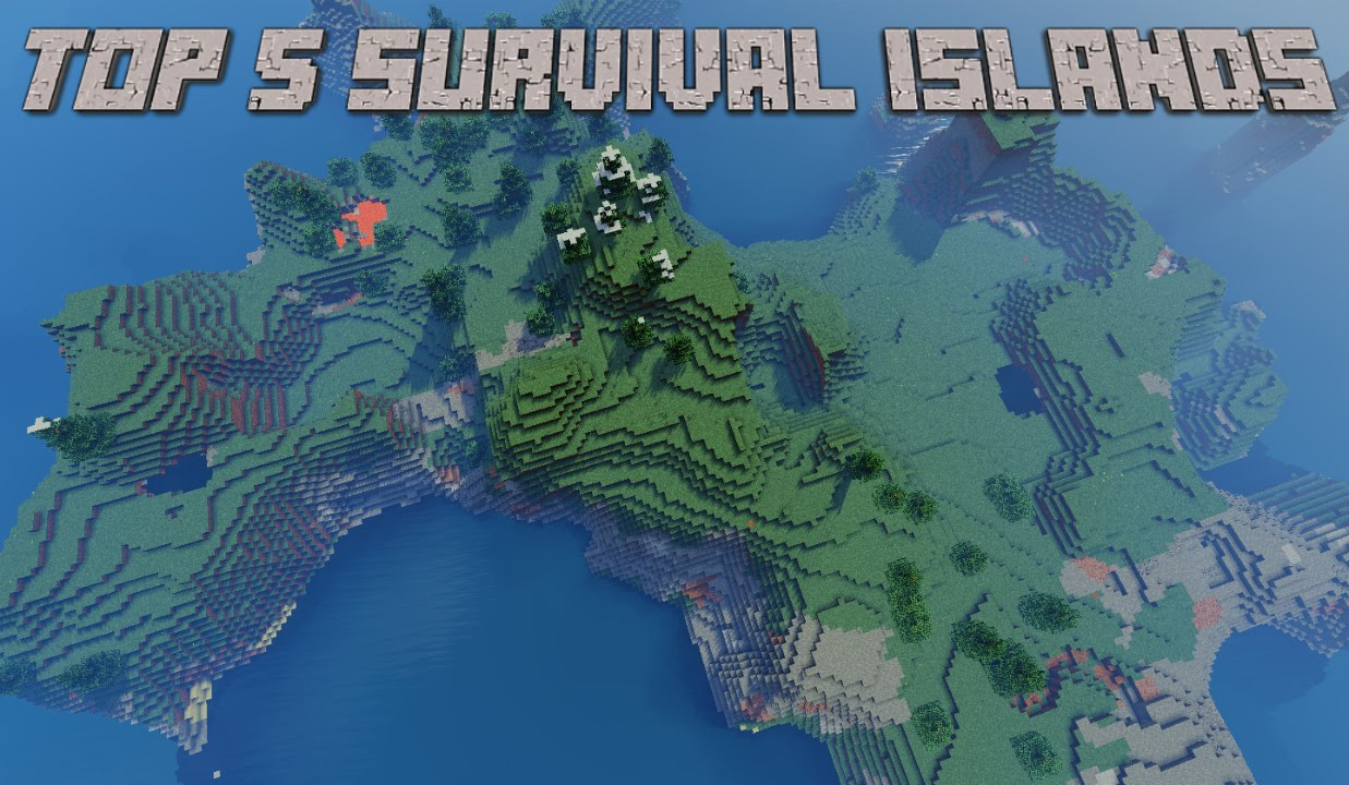 Top 5 Survival Island Minecraft Seeds 1 8 9 - Minecraft Seeds