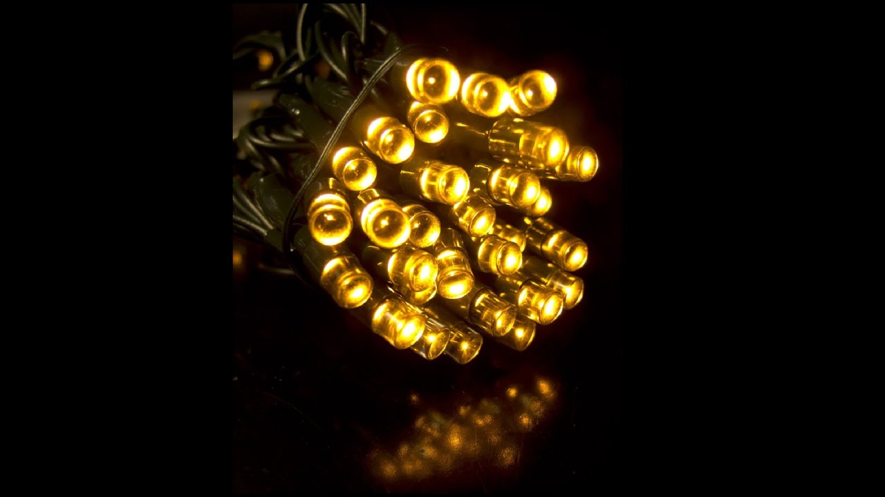 String Lights That Twinkle : String Lights - 180 Warm White Twinkle LED Bulbs - 9m - YouTube