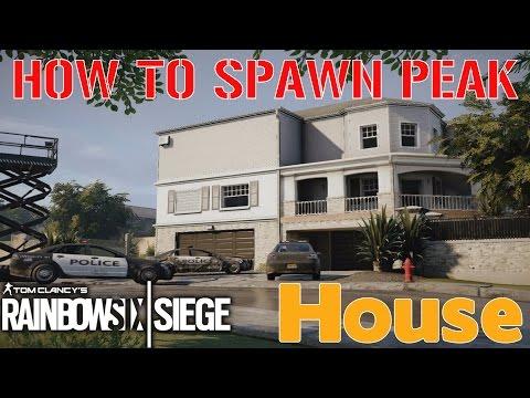HOW TO SPAWN PEEK: HOUSE - Rainbow Six Siege Tips