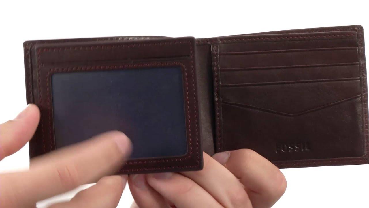 Fossil wallets for men trifold wallet design fossil truman bifold flip id sku 8492387 you colourmoves