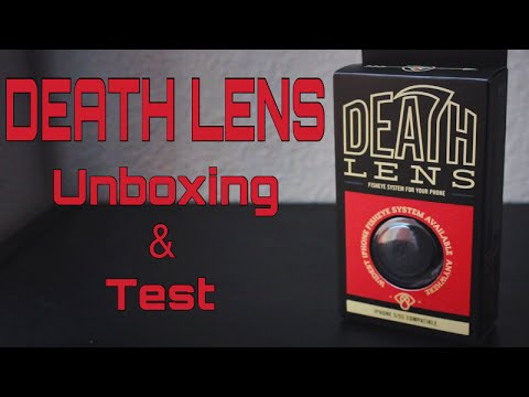 Death Lens For IPhone Unboxing/Test