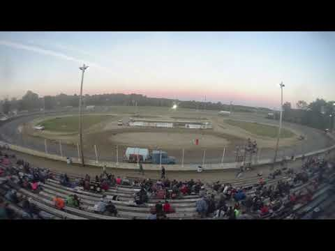 Time Lapse of Crystal Motor Speedway Saturday night show on 07-07-2018.