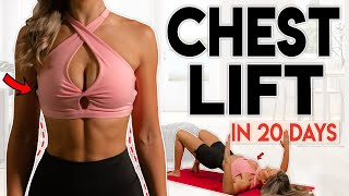BREAST LIFT in 20 Days chest lift shape 10 minute Home Workout