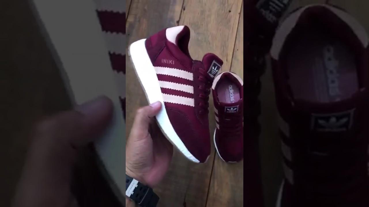 d329d7301eb21 Tênis Adidas Iniki Vinho Feminino - Loja LCS - YouTube
