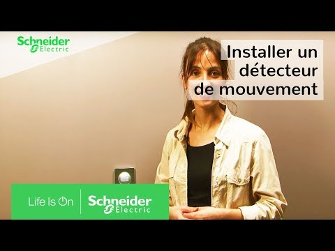 comment installer un d tecteur de mouvement la place d un interrupteur schneider electric. Black Bedroom Furniture Sets. Home Design Ideas