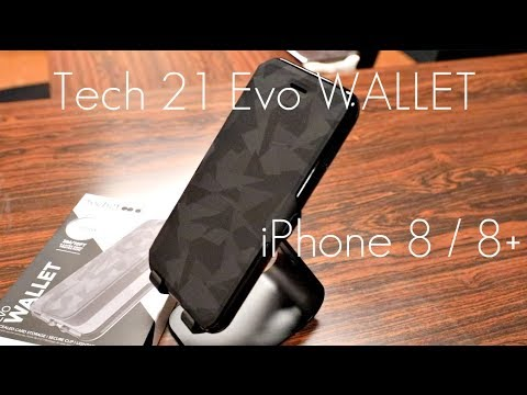 the latest e1c5b ac017 SLIM Wallet Folio! - Tech 21 Evo Wallet Case - Black - iPhone 8 / 8+ -  Review / Demo