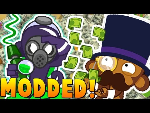MAXED EVERY TOWER BLOONS MOD CHALLENGE - BLOONS TOWER DEFENSE 5