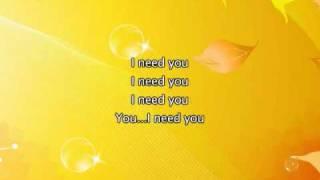 Alicia Keys - I Need You, Lyrics In Video