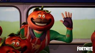 Cortos de Fortnite: Autobús lleno de tomates