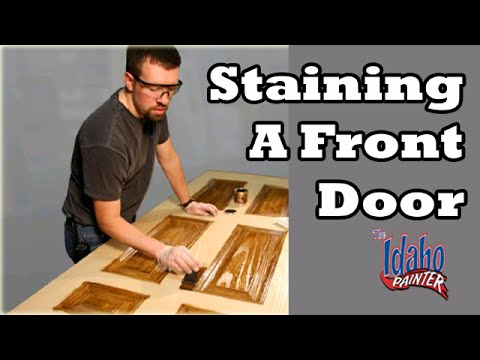 Staining An Exterior Wood Door How To Stain A Door Youtube