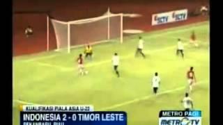 Indonesia VS Timor Leste 2 0 AFC U 22   YouTube