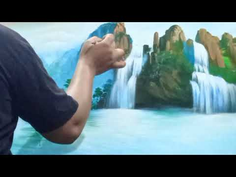 Learn step by step Acrylic colour landscape painting.
