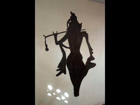 How to do wall painting of Shri Krishna