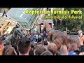 Velociraptors roam during Jurassic Park 25th Anniversary event at Universal Studios Hollywood