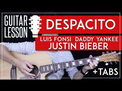 Despacito Guitar Tutorial -  Luis Fonsi Justin Bieber Guitar Lesson 🎸 |Easy Chords No Capo + Tabs|