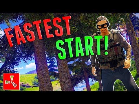 MY FASTEST SOLO START | Rust SOLO Survival #1