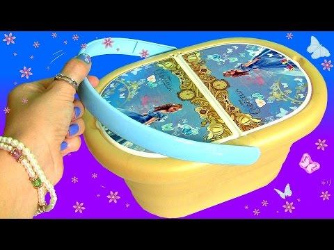 Cinderela Cesta de Piquenique Surpresa do Filme Cinderella 2015 Princesas Disney Cupcake Surpresa