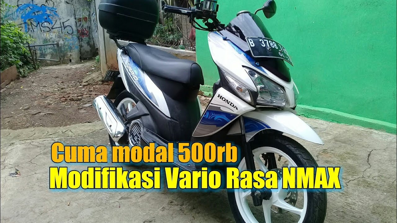 Modifikasi Vario Bergaya NMAX Cuma Habis 500rb YouTube
