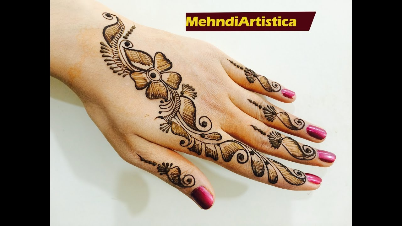 Simple Quick Mehndi Designs : Easy quick trendy bel mehndi designs for hands beautiful