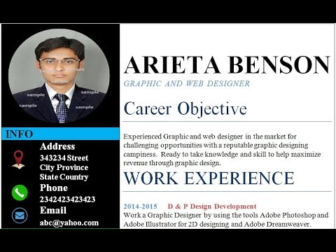 How to insert picture in resume or cv in MS Word