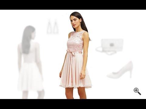 Rosa kleid kurz elegant