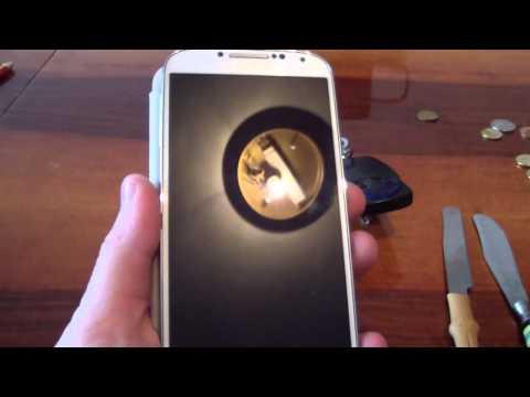 Samsung Galaxy sIV Scratch Test (Knives, Keys, Pennies)
