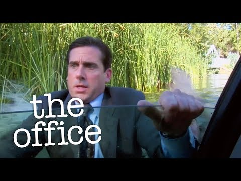 Michael Drives Into A Lake   The Office US