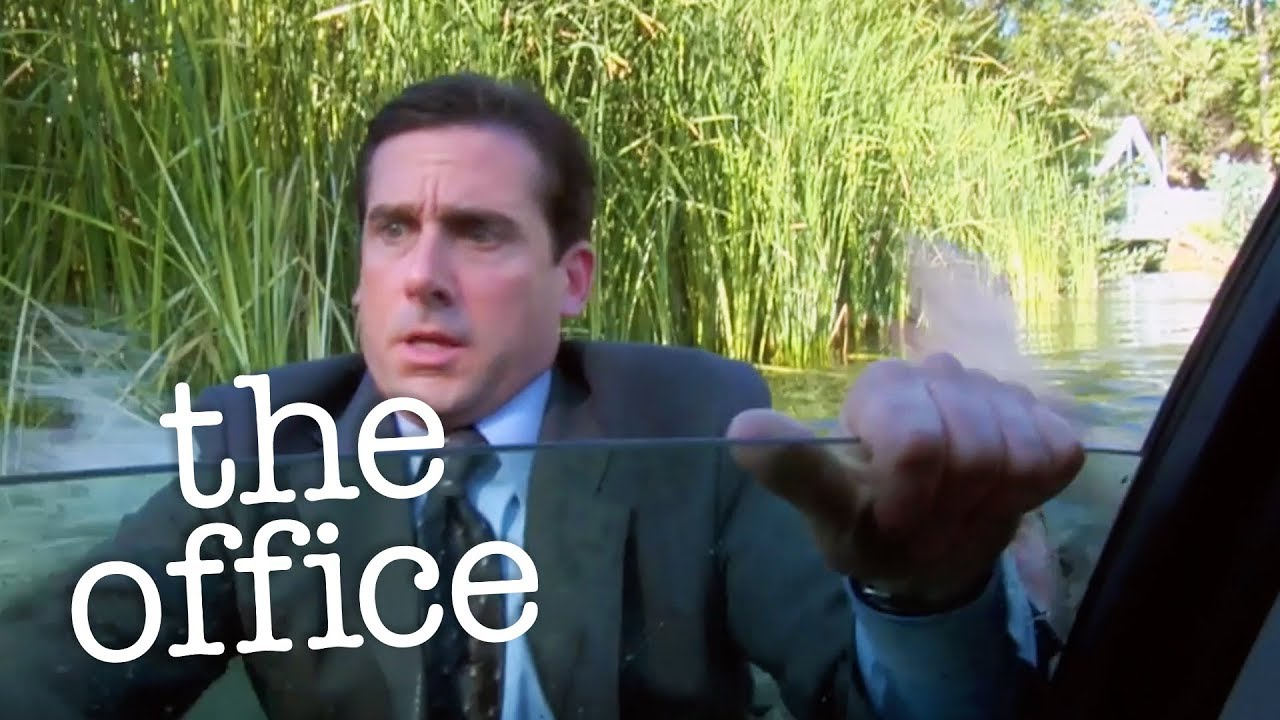 The Office Michael Drives Car Into Lake