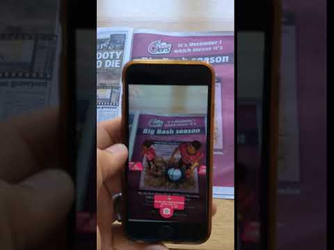 Sydney Sixers Augmented Reality Launch in the Daily Telegraph