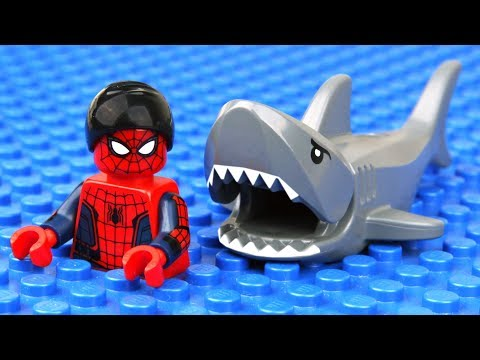 Download Youtube: Lego Spider-Man Shark Attack