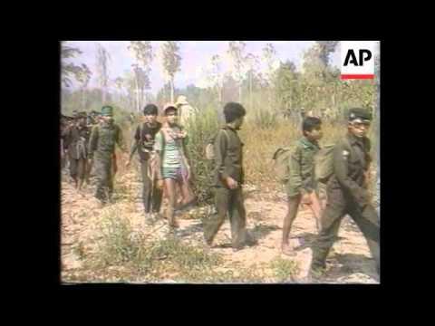 Thailand - Burmese Troops Attack Karen Rebels