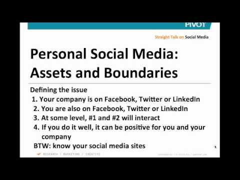 Straight Talk on Personal Social Media: Assets and Boundaries (Webinar: July 1, 2011), Part 1