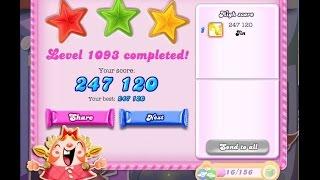 Candy Crush Saga Level 1093    ★★★   NO BOOSTER