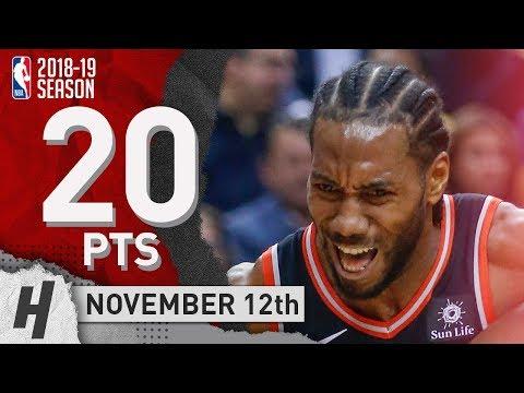 Kawhi Leonard Full Highlights Raptors vs Pelicans 20181112  20 Pts, 2 Ast, 6 Rebounds!
