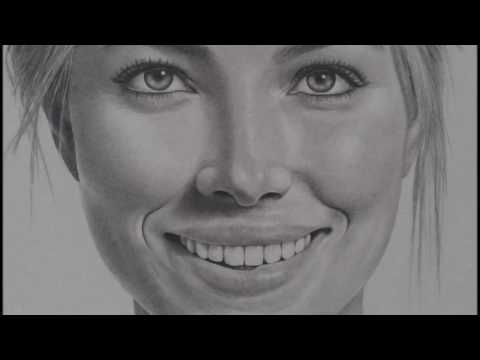 Pencil portrait: Jessica Biel