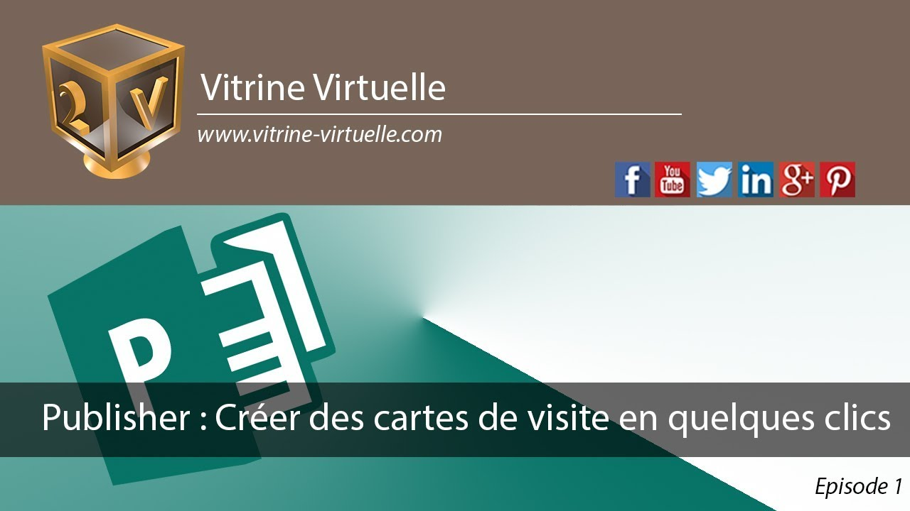 Publisher Creer Vos Cartes De Visite En Quelques Clics